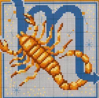 Вышивка скорпион схема